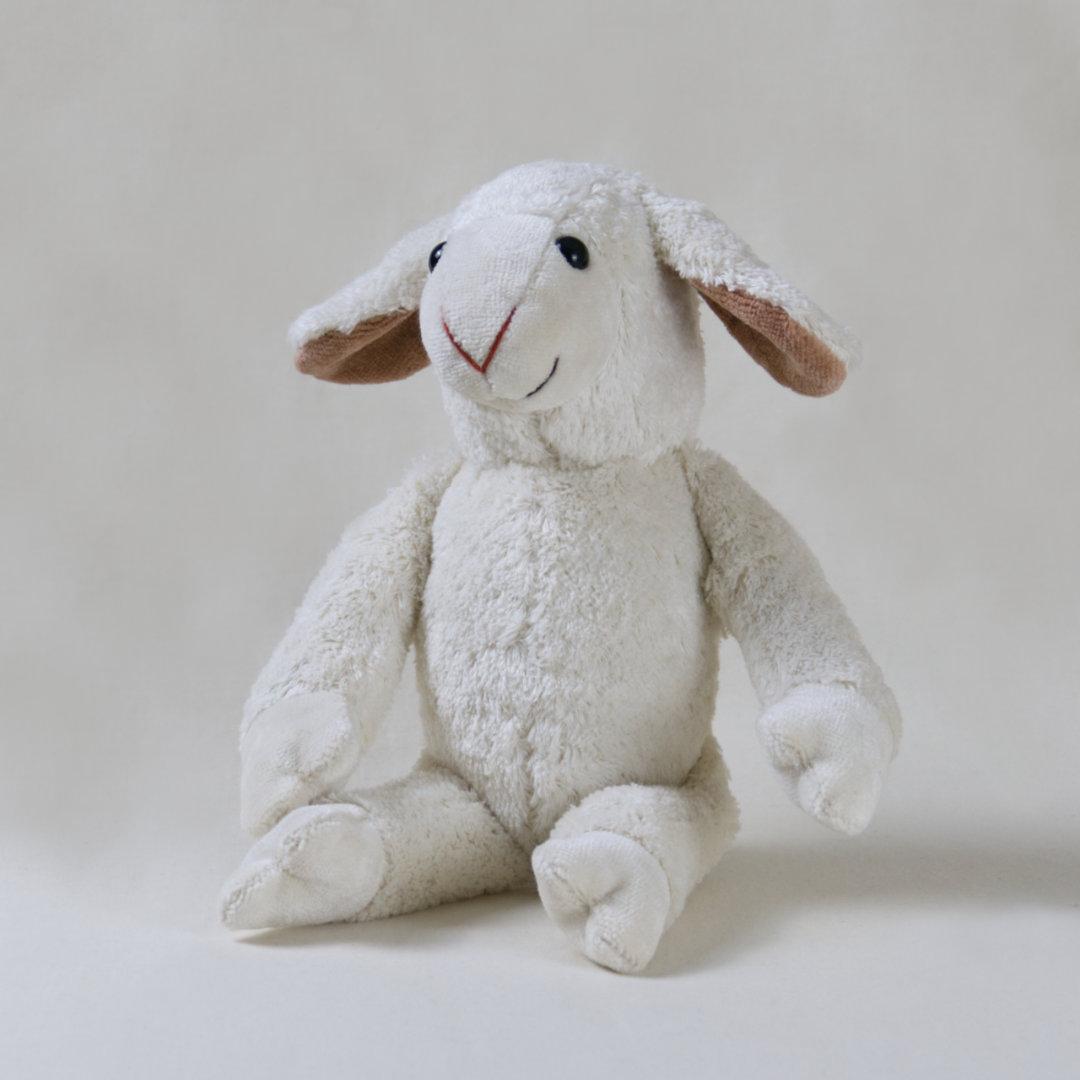 Veganes Stofftier-Schaf Bella mit schlenkernden Gliedmaßen