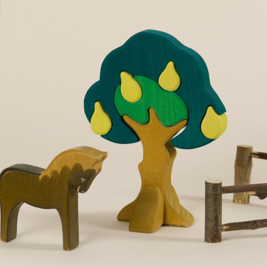 Aufbau einer Obstwiese mit dem Birnbaum-Steckspiel